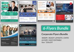 Corporate FlyerV By Template Shop On Creative Market  Flyer