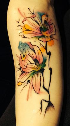 Water color magnolia tattoo - 50+ Magnolia Flower Tattoos  <3 <3