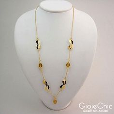 18Kt yellow gold with 3 lemon quartz necklace.  Size: 65cm  Made in Italy  www.gioiechic.com