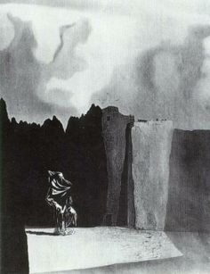 West Side of the Isle of the Dead, 1934  Salvador Dali