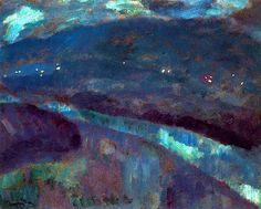 """Night in the Bidasoa River"" by Daniel Vazquez Diaz, 1917"
