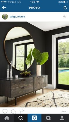 Restoration Hardware modern mirror