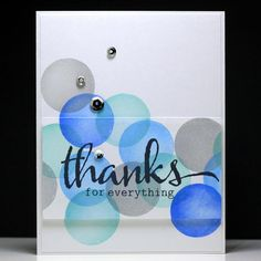 Thanks for Everything Circle Stamping #3 - Scrapbook.com