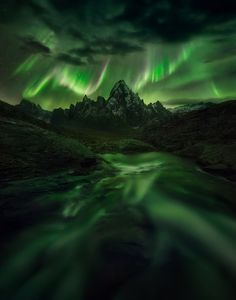 Temple of Night. The spectacle of the Aurora in northern Yukon Canada. [1570x2000] by Marc Adamus   landscape Nature Photos