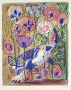 Otto Dix, Cat in Moon Landscape, 1968, five-color lithograph. ©2014 ARTISTS RIGHTS SOCIETY (ARS), NEW YORK/VG BILD-KUNST, BONN.