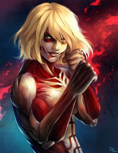 "I was in my titan form, facing annie. I wanted her out of this form and in a dungeon! ""well annie, lets go."" I thought"