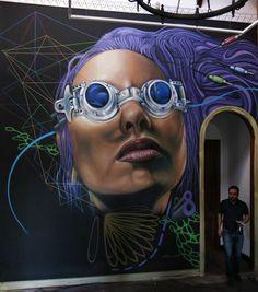 Graffiti Street Art 3D, Street Art Murals, Streetart Cyberpunk, Artist Sabotaje, Montaje Streetart, Wall Painting Streetart, Streetart Graffiti, Graffiti ...