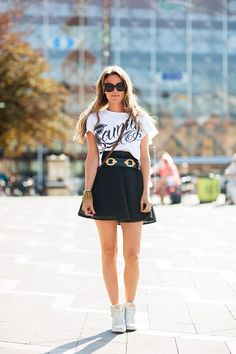 sneakers and mini summer outfit