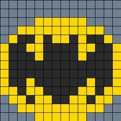Batman On Small Square Pegboard Perler Bead Pattern | Bead Sprites | Characters Fuse Bead Patterns