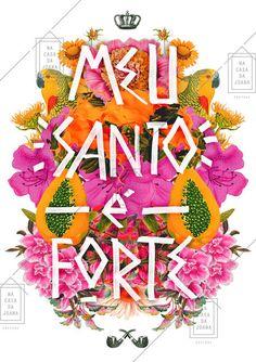 Santo Forte - Na Casa da Joana Orisha, All Paper, Arte Pop, Lucky Charm, Illustrations And Posters, Cute Pattern, Some Words, Wallpaper Backgrounds, Photo Art