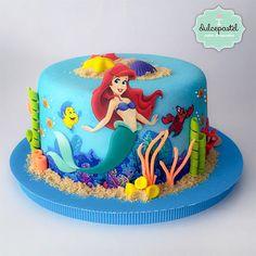 Torta Sirenita – The Little Mermaid Cake – Cake by Giovanna Carrillo - birthday Cake White Ideen
