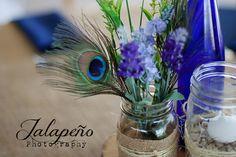 Green, purple, peacock wedding, rustic wedding, Ash Lawn Highland, silk flowers