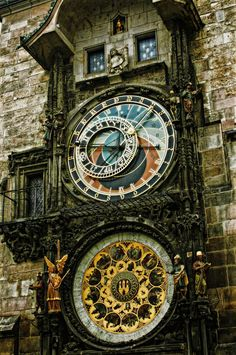 Beautiful astronomical clock in Prague.