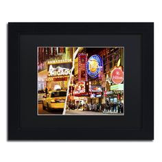 Philippe Hugonnard 'Times Square Colours' Matte, Framed Wall Art