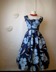 alfred shaheen clothing | 1950s Vintage Dress by Alfred Shaheen