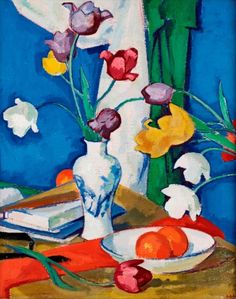 Peploe, Tulips and Fruit, 1919