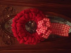 Plain little red burlap wreath :)