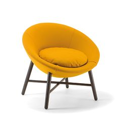 Easy chair Cocoon 1660 PO, by Cizeta Sofa Chair, Armchair, Take A Seat, Contemporary Furniture, Lounge, Chairs, Easy, Home Decor, Fabric