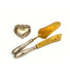 Antique Sterling Set Cake Knife with Cake by millyscollection, $152.00