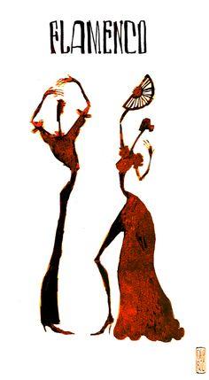 Flamenco stick figures! ;)