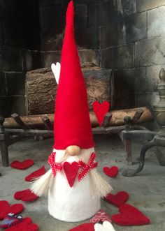 NordicGnome a Scandinavian Tomte handmade in all natural materials