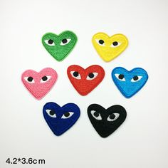 eye patch Clothes brand funny Embroidery Applique patch heart patch Embroidered…