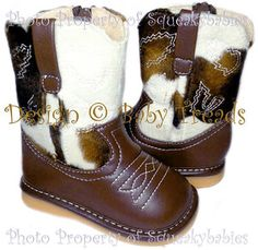 Cowboy boots that zip and are wide. Wish I had 2 pairs for my boys! CUTE