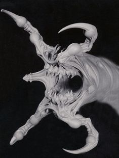 Alien Concept Art, Creature Concept Art, Creature Design, Monster Design, Monster Art, Alien Creatures, Fantasy Creatures, Traditional Sculptures, 3d Studio