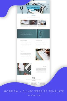 The best website builder for stunning websites. It will change the way you build websites forever. Build your website for FREE. No credit card required. Use the hospital / clinic website template to create your website today.