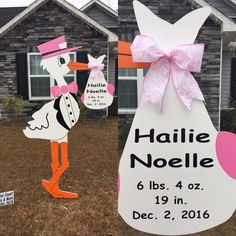 Do you know someone who is having a baby? Order a stork from Crystal Coast Storks & More to welcome home the new baby! Call us at (910) 381-5679 to surprise a loved one with one of our beautiful 6 ft Storks!