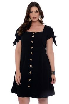 Vestido Plus Size Thicy Looks Plus Size, Curvy Plus Size, Plus Size Casual, Plus Size Model, Vestidos Plus Size, Plus Size Dresses, Plus Size Outfits, Simple Dresses, Casual Dresses