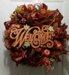 Autumn Wreath I made for my Aunt