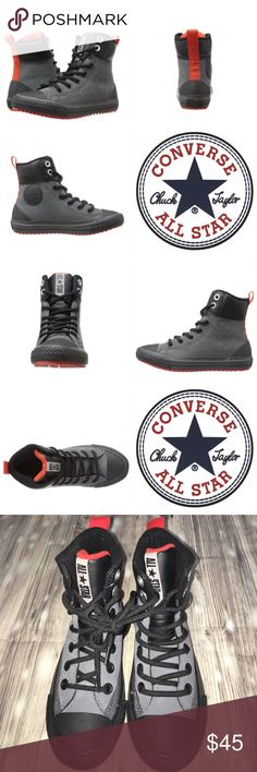 🆕 Chuck Taylor All-Stars Asphalt Boot Hiking isn't just for the trails! Hit the asphalt in the boot stylings of the Converse® Kids hi-tops! Hi-top silhouette. Durable synthetic upper. Lace-up closure for snug fit. Heel pull-loop for easy entry. Padded collar and tongue for added comfort. Smooth textile lining for added comfort. Signature Chuck Taylor All Star rubber toe box, textured toe bumper, and Converse All Star heel patch. Rubber outsole with custom Diamond tread pattern for traction…