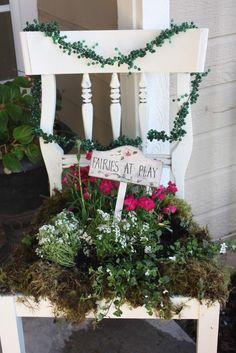 Gypsy Purple home. - Garden - Gypsy Purple home. Garden Chairs, Balcony Garden, Garden Furniture, Recycled Furniture, Door Furniture, Furniture Market, Furniture Design, Amazing Gardens, Beautiful Gardens