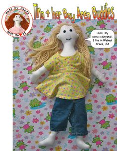 Sale on Tina and Her Bay Area Buddies Krystal doll by rabbitstudios, $25.00