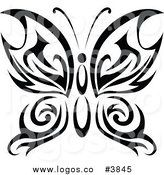 Royalty Free Tribal Butterfly Logo by Vector Tradition SM