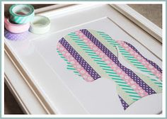 Winks & Daisies: DIY Washi Tape Silhoutte