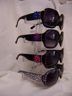 aba660cde00 Items similar to SUNGLASSES Four Hundred UV PROTECTION Bling it on... Free  Shipping on Etsy