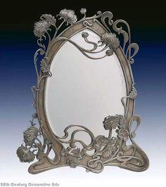Trendy Ideas For Art Nouveau Mirror Frame Art Nouveau Interior, Design Art Nouveau, Art Nouveau Furniture, Art Nouveau Architecture, Belle Epoque, Deco Paris, Mirrored Picture Frames, Jugendstil Design, Art Moderne