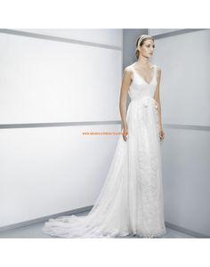 Sexy tief V-Ausschnitt rückenfrei Brautkleider aus Spitze Vestidos de novia - Jesús Peiró