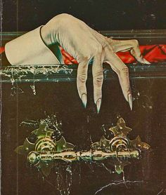 Detail of Dracula's hand from the cover of Bram Stoker's 'Dracula', published by Penguin Books 1979. Cover Artist: Andrew Holmes