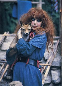 the late Vali Myers and her beautiful companion Foxy