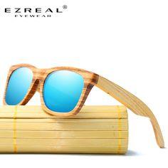 2a4b658ada3e6 Encontre mais Óculos de sol Informações sobre EZREAL Zebra Óculos De Sol De  Madeira de Bambu. Wooden SunglassesMens SunglassesPolarized GlassesWomens  ...