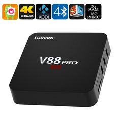 Image of SCISHION V88 Pro+ TV Box - S905X CPU, 2GB RAM, 4Kx2K, Android 6.0, 3D Movie, 4xUSB, 16GB Memory