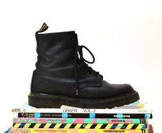 Amazing 90s Black Dr. Martens Boots Size Women 6 by Hookedonhoney