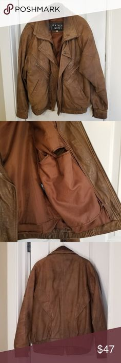 Leather Limited Brown Leather Coat, Size XL Leather Limited Brown Leather Coat, Size XL, with thermal insulated liner. Used but great quality and plenty of wear left! Jackets & Coats