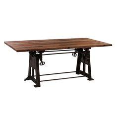 Opus Industrial Solid Timber Dining Table - Matt Blatt