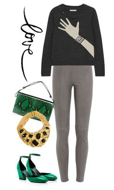 """""""Love"""" by cherieaustin on Polyvore featuring Steffen Schraut, Alice + Olivia, Pierre Hardy, Marni, Alice and aliceandolivia"""