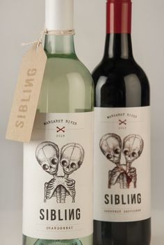 Wine doesn't have to be stuffy. Love this edgy branding. Sibling Winery.  http://smartartisanmedia.com