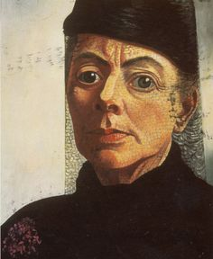 Charley Toorop, 'Self-portrait with Black Hat and Veil', 1943-1944